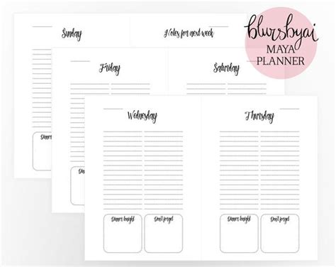 A5 Printable Planner Editable Planner Template For Word And Ready To Blursbyai Editable Daily Planner Template