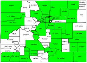 county colorado map map of colorado counties images