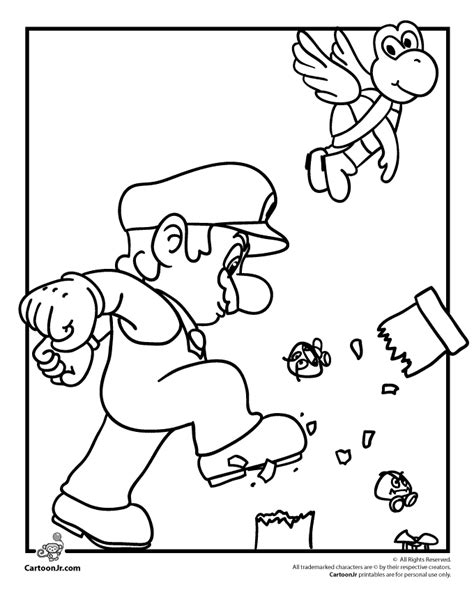 blank coloring pages mario mario color pages coloring home
