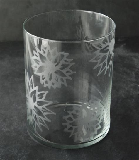 Diy Glass Vase L by Diy Etched Glass Vase White Lights On Wednesday