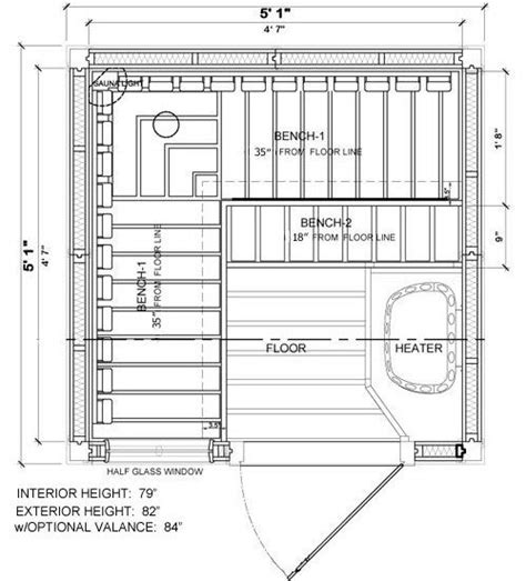 sauna floor plans pf55 nordic spruce 3 person pre built saunas 2 249 95 layout sauna discover