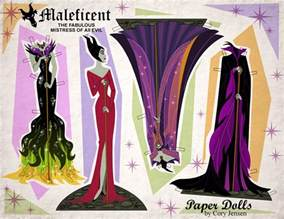 3d Paper Doll Template by Disney S Maleficent Free Printables Crafts And Coloring