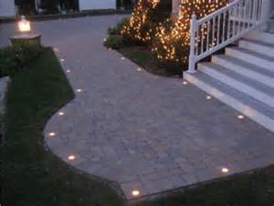 Patio Paver Lights Lighting For Your Driveway Or Patio Paver Lighting Around The Yard Driveways