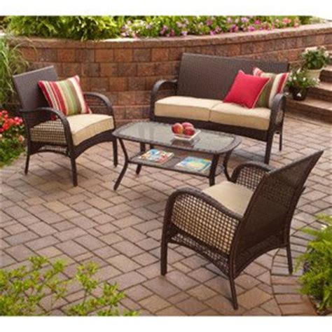 Indoor Patio Furniture Sets Indoor Outdoor Patio Furniture All Weather Wicker 4 Pc With Seat Covers Outdoor