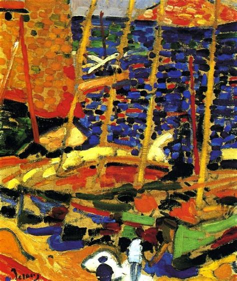 andre derain boats in the port of collioure andr 233 derain the port of collioure 1906 fauvism