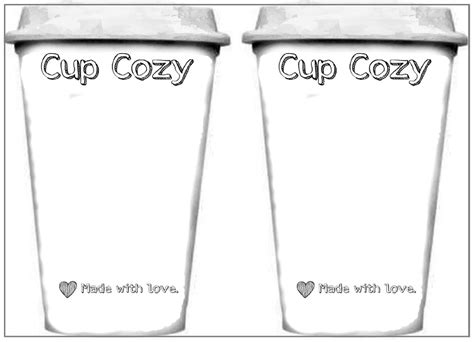 coffee card template simple cup cozy and template frogging along