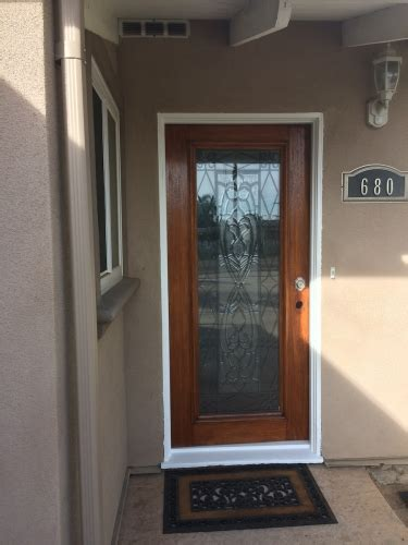 Front Doors San Diego Refinishing And Painting A Weathered Front Door In San Diego Chism Brothers Painting