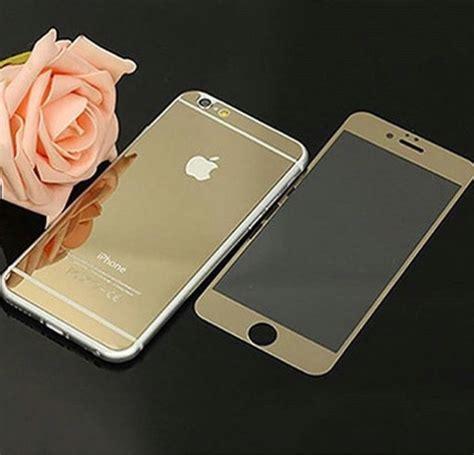 C03370 F Pro For Iphone Se 5s 5 6 6s 6 6 S 7 7 capa pel 237 cula dourada espelhada para iphone 4 4s 6 6s 6