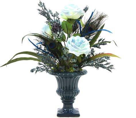 Artificial Floral Arrangements For Dining Table Handmade Silk Flower Arrangement Home Office Decor Dining Room Decor Table Centerpiece By