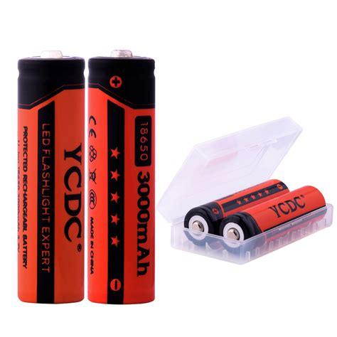 Baterai Rechargeable ycdc 20pcs lot 3000mah rechargeable battery lithium li ion
