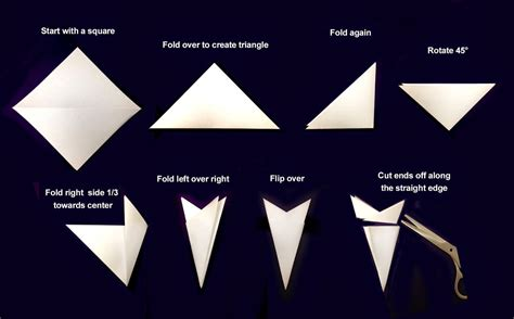 How To Fold A Paper For A Snowflake - facci designs creating images within your diy paper