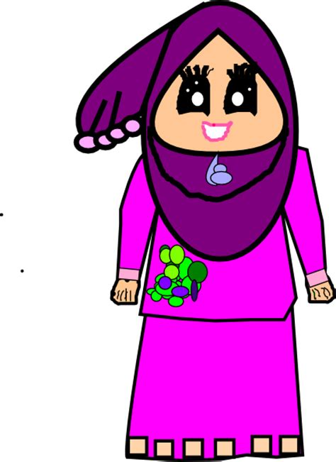 free doodle muslimah muslimah doodle raya clip at clker vector clip