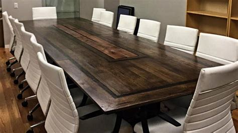 Wooden Boardroom Table Washington New Yorker