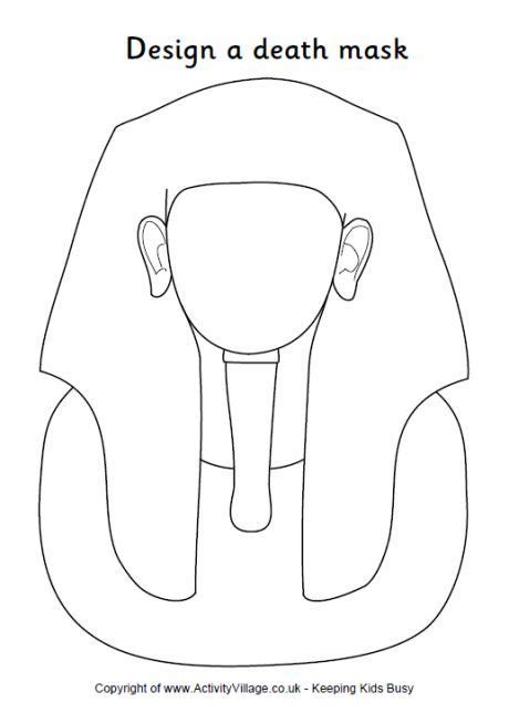 design an ancient egyptian death mask outline
