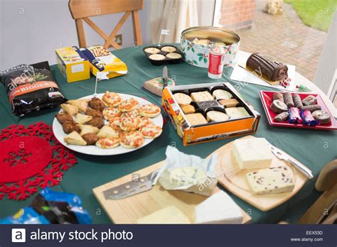 christmas buffet table lunch gluten free coeliac stock