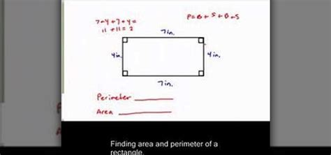 how to calculate perimeter how to find the perimeter area of a rectangle 171 math
