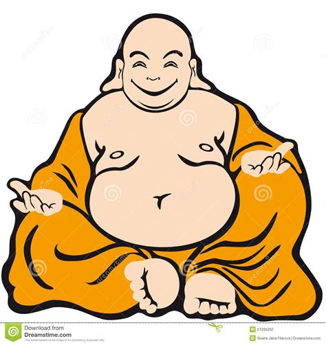 cartoon character buddha stock vector image of happy