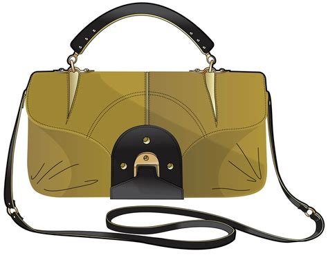 Tot Bag Tas Tangan yellow clutch with brown handle bag illustration