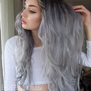 black at root of hair black roots with silver gray hair pinterest