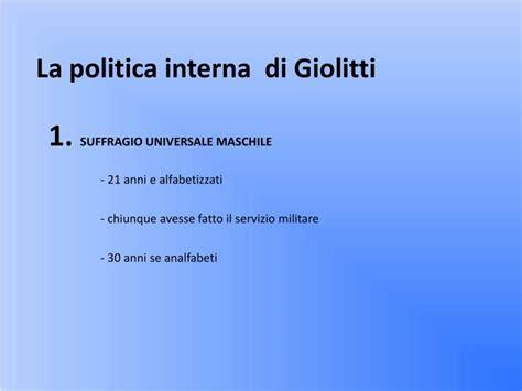la politica interna di giolitti ppt giolitti powerpoint presentation id 3656245