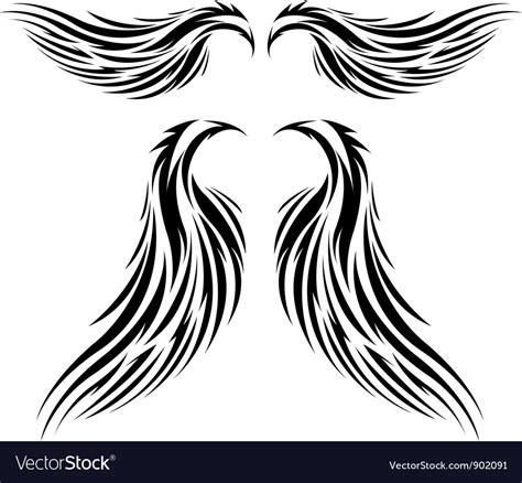 tattoo tribal wings designs vector tribal wing vector www pixshark images galleries