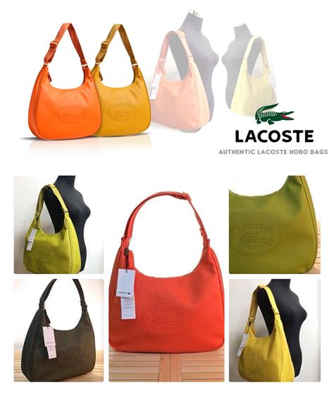 Terasli P001 Lacoste Bag Original brand new authentic lacoste hobo bag free delivery nationwide