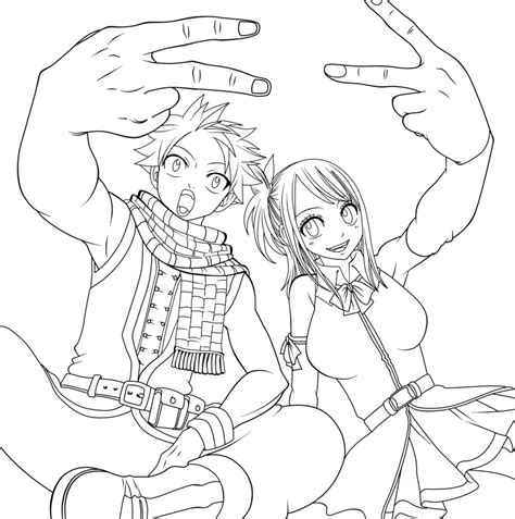 fairy tail anime coloring coloring pages