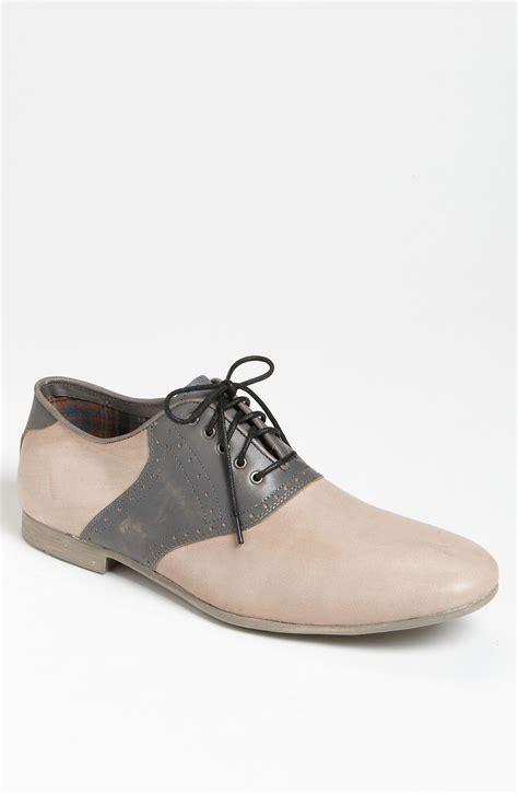 bed stu shoes mens bed stu orleans saddle shoe in beige for men bone grey