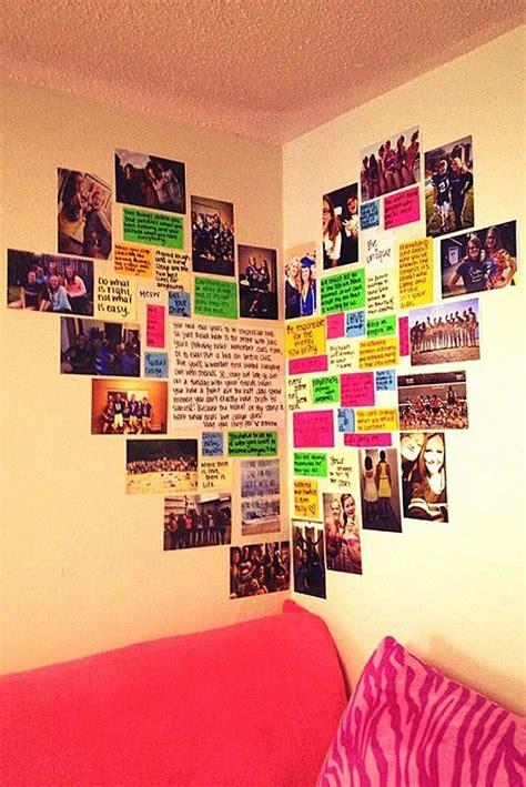 stylish teen s bedroom ideas homelovr 23 cute teen room decor ideas for girls homelovr 23 | Heart Photo Wall
