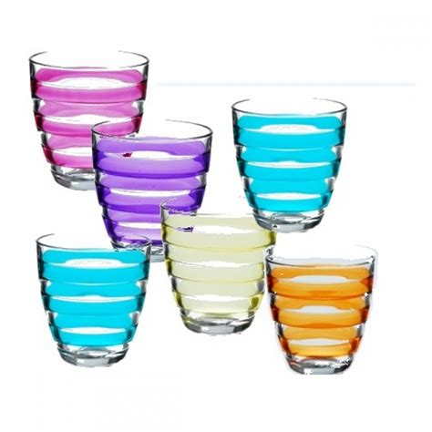 colored glasses sets set of 6 assorted colored glasses household glasses
