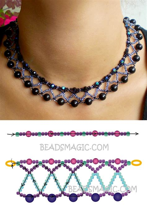 patterns free beads free pattern for necklace nicole seed beads 11 0 faceted