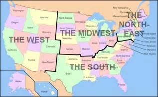 united states map of regions u s regions west midwest south and northeast