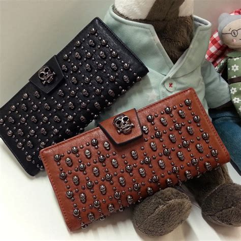 B426 Tas Import Fashion Clutch Handbag fashion genuine leather skull bags purses wallet clutch ebay