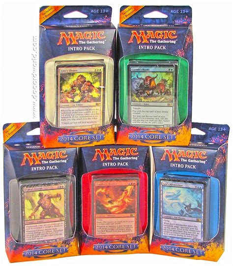 Magic The Gathering Black Starter Deck by Magic The Gathering 2014 Set Intro Pack Set Of 5