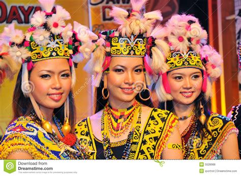 details about dayak girl photo costume jewels borneo borneo tribal girls editorial stock photo image of gawai
