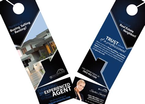 rip card template real estate door hanger rip cards door hangers business