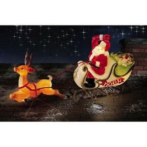 reindeer sleigh lawn decorations for christmas santa reindeer sled sleigh presents mold yard decoration ebay
