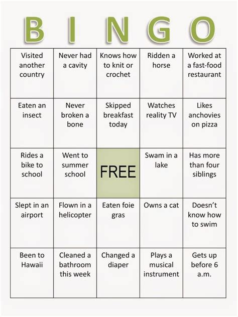free printable ice breaker games for adults pinterest the world s catalog of ideas