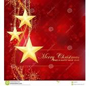 Estrellas De Oro La Feliz Navidad En Fondo Rojo Imagen