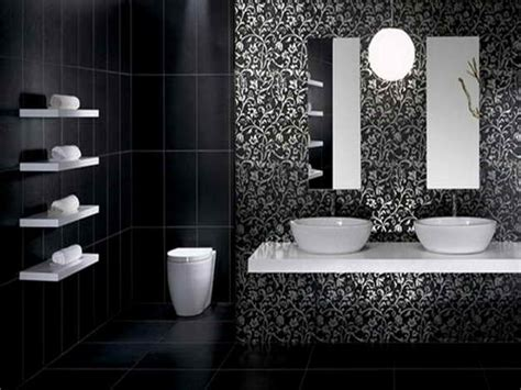 bad tapete black and white bathroom gorgeous inspirations