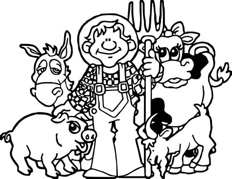animal family coloring page baby farm animal family coloring page wecoloringpage