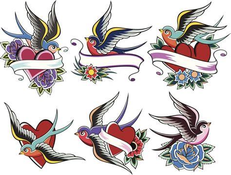 tatuaggi con rondini e fiori school alcune proposte di rondini colorate con