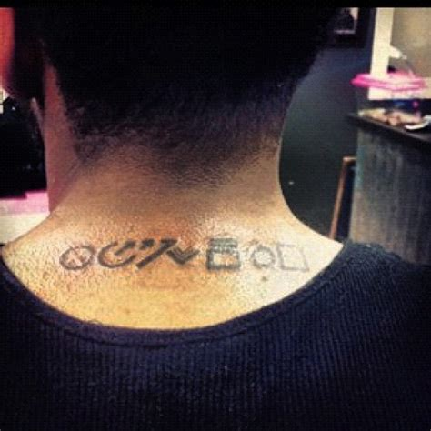 chris brown back tattoo guys fortune tattoo