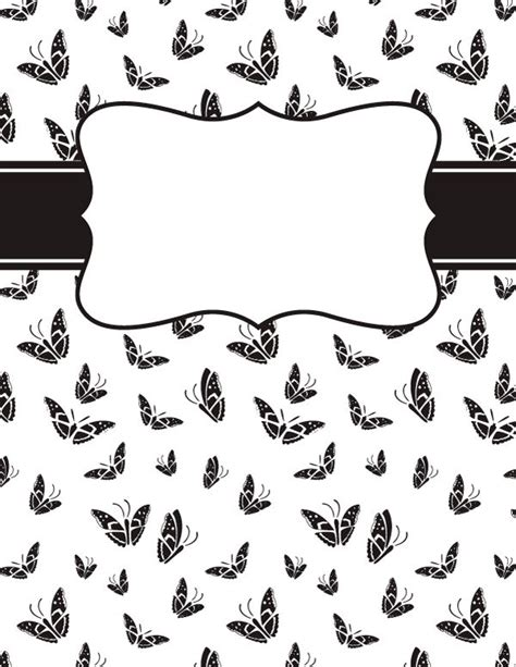 black and white binder cover templates 6132 best clipart images on tags