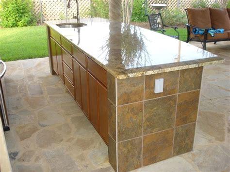 Outdoor Bar Countertops by Outdoor Kitchen Tile Back Splash Bar Tile Granite