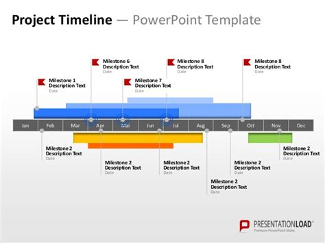 project timeline powerpoint template free powerpoint timeline template