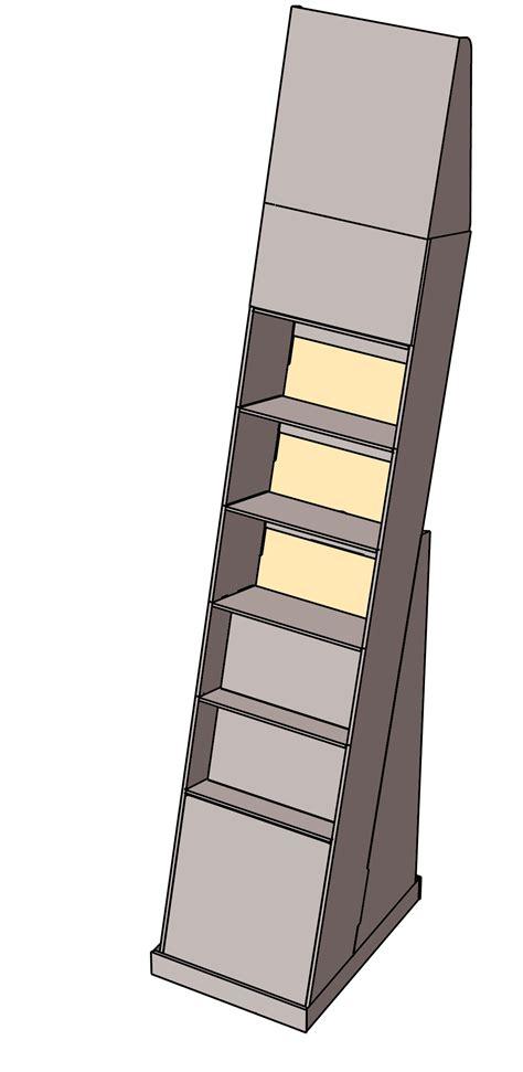 Small Floor Bookcase 5 6 Shelf Small Floor Display Boxmaster