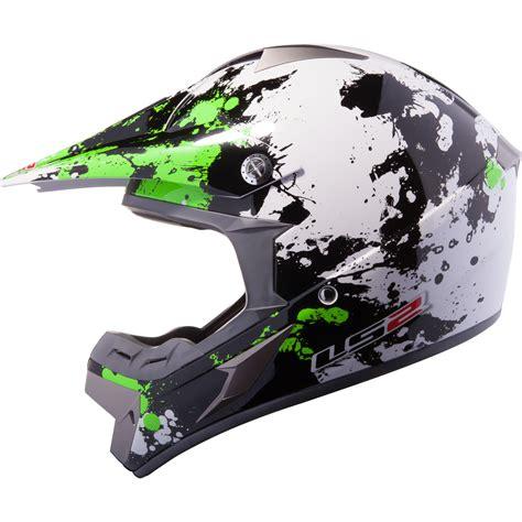 ls2 motocross ls2 mx433 43 blast white black green motocross helmet moto