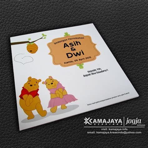 Kipas Winie The Pooh T1910 5 undangan pernikahan unik winnie the pooh asih dwi