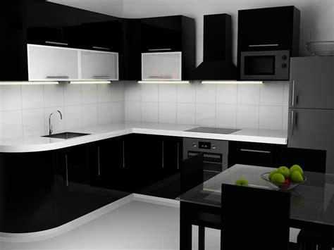 black and white kitchen design 黑白简约厨房装修效果图 黑色橱柜效果图 土巴兔装修效果图